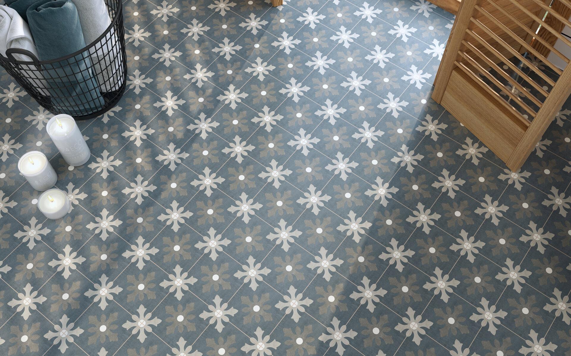 15 X Patterned Porcelain Floor Tile