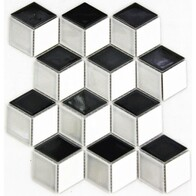 3D Hex - Black, white and grey Mix