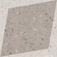 Natural Drops Rhombus Decor - Taupe