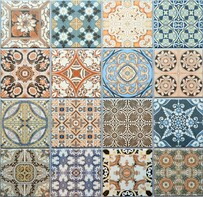 Paysanne - Moroccan style Mix Patterned Porcelain tiles