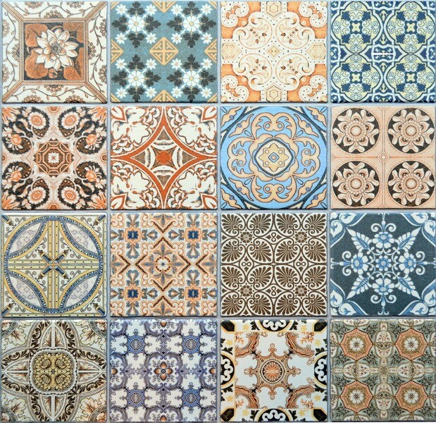 Paysanne Moroccan Style Mix Patterned Porcelain Tiles