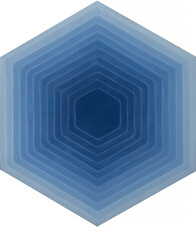 Four Elements - Hexagon - Blue