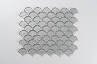 Aurora Glass Mosaic -  Fan - Grey