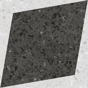Natural Drops Rhombus Decor - Graphite