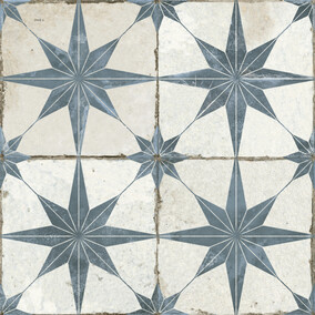 Vintage Industrial  - Star Blue