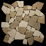 Beige & Tan Marble Large Random tiles