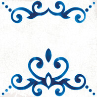 Blanc et Bleu - Antique Decor Mix Pattern