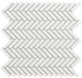 Chevron - White Mosaic