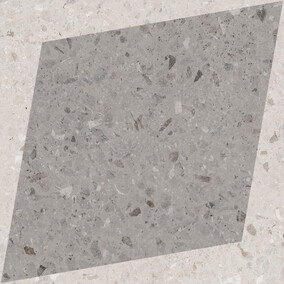 Natural Drops Rhombus Decor - Grey