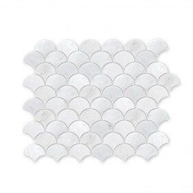 Hampton Court Marble Mosaic - Fishscale / Fan