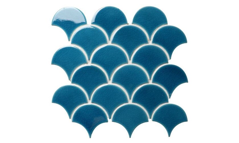 Tiles Etc Atlantis Scallop Ultramarine Mosaic Tiles